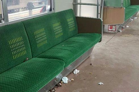 Sampah Berserakan di KRL, Penumpang Diimbau Buang Sampah di Stasiun