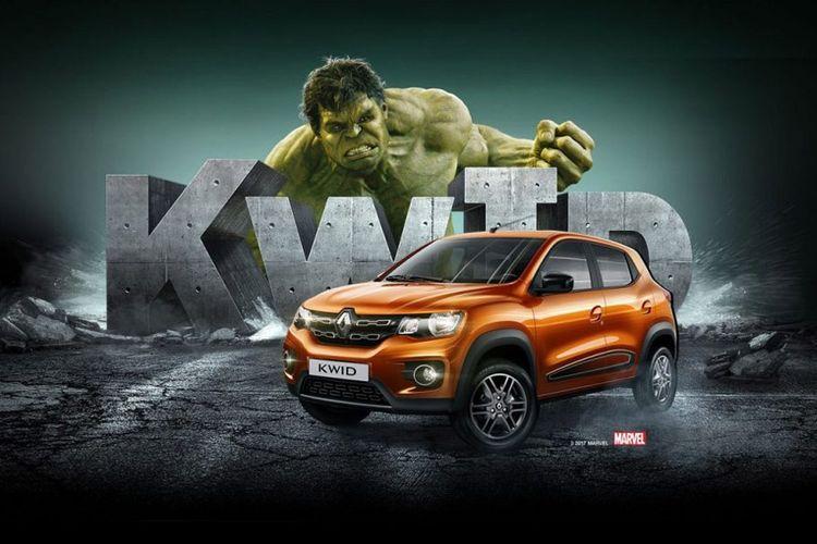 Renault Kwid berpasangan dengan Hulk untuk kegiatan promosi di Brasil.