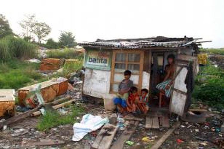 Salah satu kondisi warga miskin di Kota Manado.