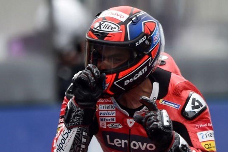 Danilo Petrucci (Ducati) memenangkan MotoGP Perancis 2020 di Sirkuit Le Mans.