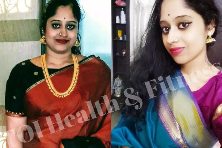 Transformasi berat badan Sumitra Sridharan.
