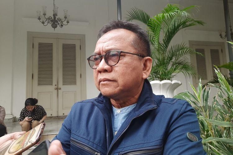 Ketua DPD Partai Gerindra DKI Jakarta Mohammad Taufik di Balai Kota, Jakarta Pusat, Kamis (19/12/2019)