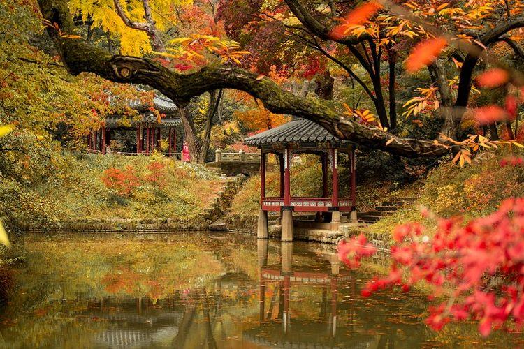 Ilustrasi Korea Selatan - Istana Changdeokgung.