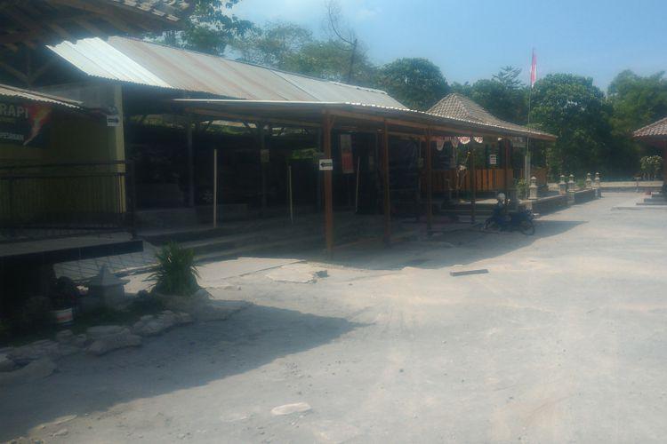 Lokasi rumah mbah Maridjan, dusun Kinahrejo, Umbulharjo, Cangkringan, tidak ada Aktivitas
