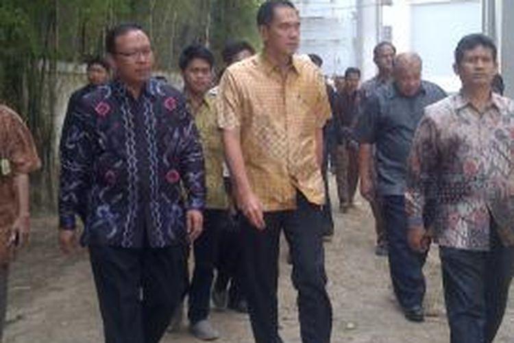 Menteri Perdagangan RI Gita Wirjawan, saat menghadiri orasi ilmiah di Unisma Malang, Jawa Timur, Kamis (19/9/2013).