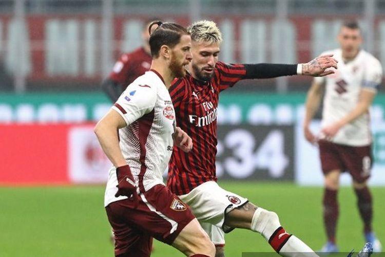 Laga AC Milan vs Torino pada Liga Italia yang berlangsung di Stadion San Siro, 17 Februari 2020 atau 18 Februari 2020 dini hari WIB.
