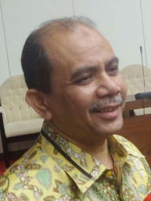 Wakil Ketua Pansus Hak Angket KPK Dossy Iskandar Prasetyo di Kompleks Parlemen, Senayan, Jakarta, Selasa (11/7/2017).
