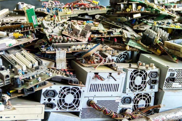 Ilustrasi sampah elektronik