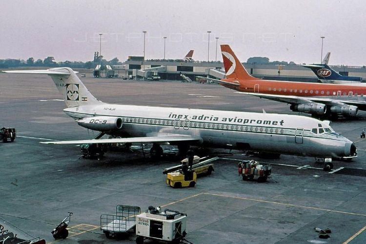 Pesawat Inex Adria dan British Airways mengalami kecelakan pada 10 September 1976 di Zagreb, Kroasia