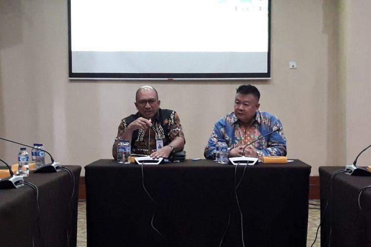 PT Bank Mandiri (Persero) Tbk dan REI menghelar pameran properti 17-25 November 2018 di JCC, Jakarta. Tampak dalam gambar Executive VP Consumer Loans Bank Mandiri Ignatius Susatyo Wijoyo dan Wakil Ketua Umum REI Bambang Ekajaya.