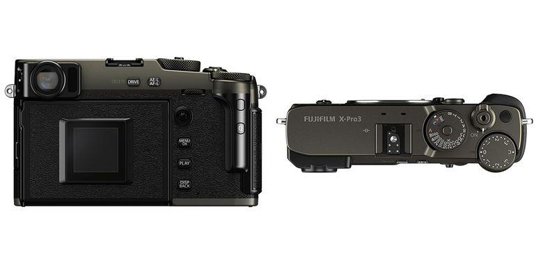 Bagian belakang dan atas dari Fujifilm X-Pro3