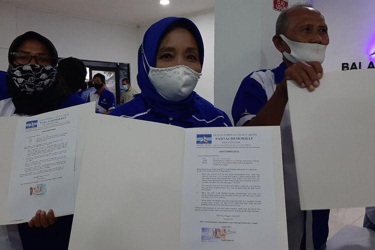 Ketua DPAC Partai Demokrat Kota Semarang tanda tangani surat pernyataan setia kepada Ketua Umum AHY.