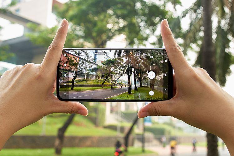 Ilustrasi memotret dengan Vivo V20
