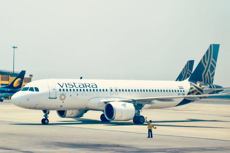 Pesawat milik maskapai India, Vistara Airline.