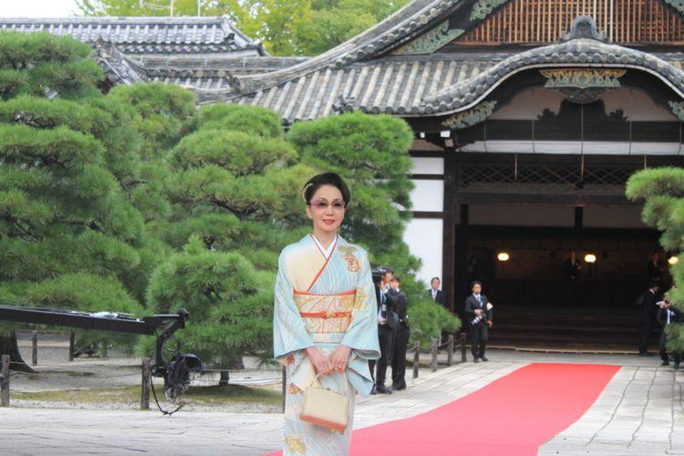 Kuil Hongwanji, di Kyoto, Kamis (12/10/2017).
