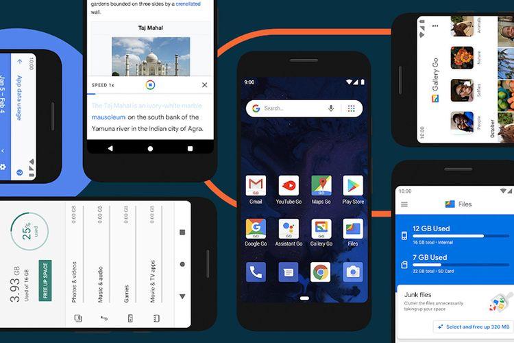 Ilustrasi Android 10 Go Edition