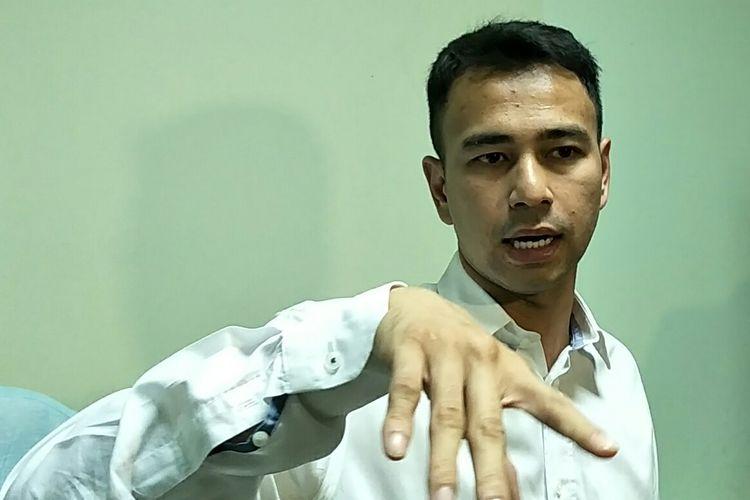 Artis peran Raffi Ahmad saat ditemui di kantor pusat MUI, kawasan Menteng, Jakarta Pusat, Kamis (30/5/2019).