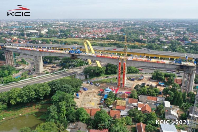 Work in progress at Indonesia's first high-speed railway project.