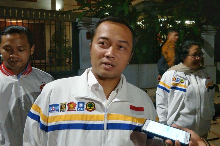 Ketua bidang Organisasi dan Keanggotaan DPP Partai Gerindra Prasetyo Hadi saat ditemui di kediaman pribadi Prabowo, Jalan Kertanegara, Jakarta Selatan, Kamis (20/9/2018) malam.