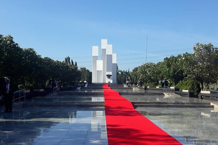 Taman Makam Pahlawan (TMP) Kalibata jelang kunjungan Raja Belanda Willem-Alexander, Selasa (9/3/2020) pagi.