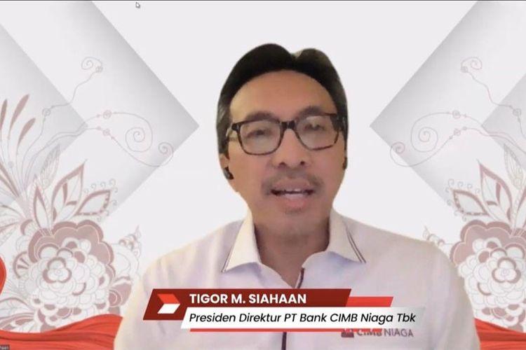 Presiden Direktur CIMB Niaga Tigor M Siahaan menekankan pentingnya dukungan terhadap UKM dan industri kreatif di era pemulihan ekonomi nasional.