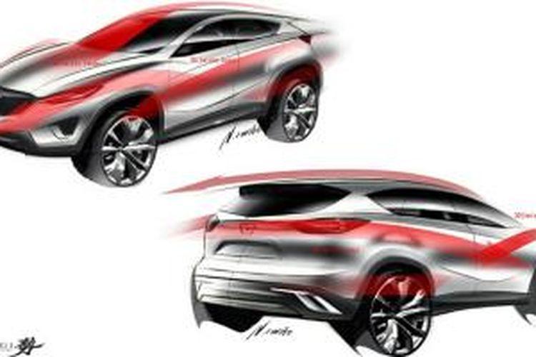 Mazda Minagi, konsep yang pertama kali menggunakan desain KODO dan teknologi Skyactiv. Cikal bakal CX-5.