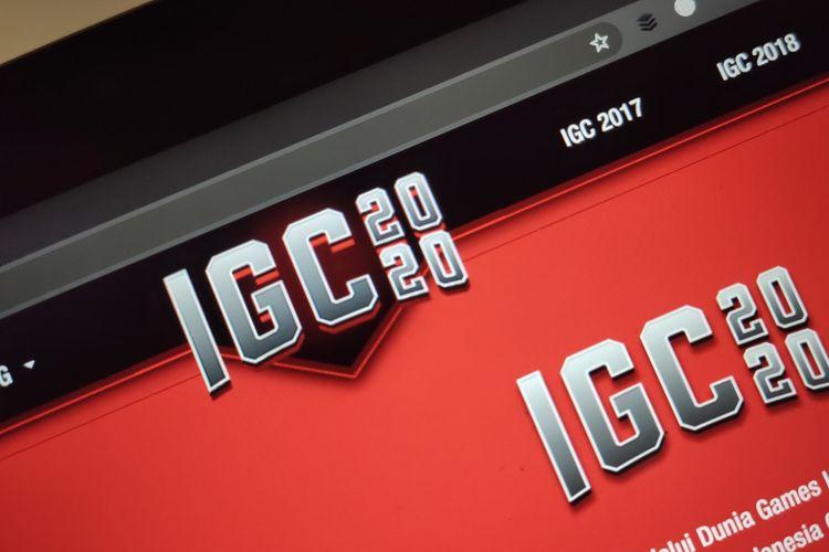 Ilusrasi logo IGC 2020 di situs resmi.