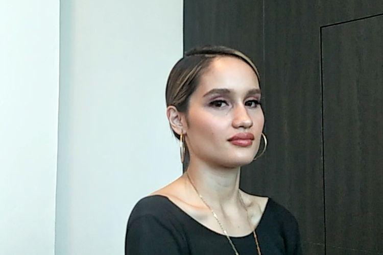 Artis peran yang juga penyanyi Cinta Laura Kiehl saat ditemui di acara 5th Congress of Indonesian Diaspora, di Kota Kasablanka, Jakarta Selatan, Sabtu (10/8/2019).