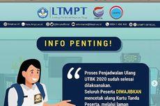 Batas Akhir Cetak Ulang Kartu Peserta UTBK-SBMPTN 2020 Diperpanjang