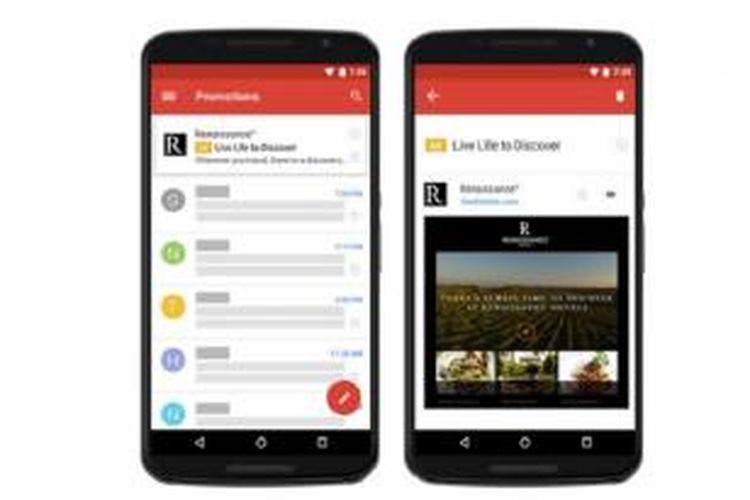 Google meluncurkan format baru Gmail ads