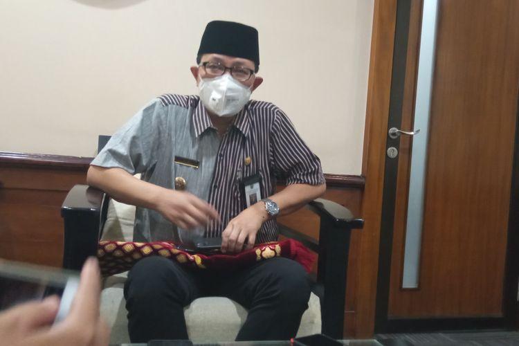 Heroe Poerwadi saat ditemui di kantornya, Kompleks Balaikota Yogyakarta