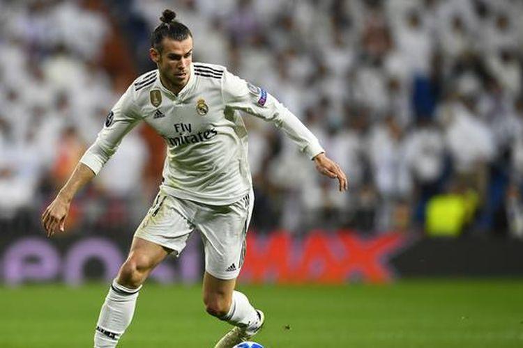 Gareth Bale saat berlaga di Liga Champions bersama Real Madrid, Selasa (23/4/2019)