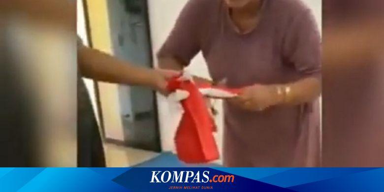 Heboh Video Ibu Gunting Bendera Merah Putih, Polis