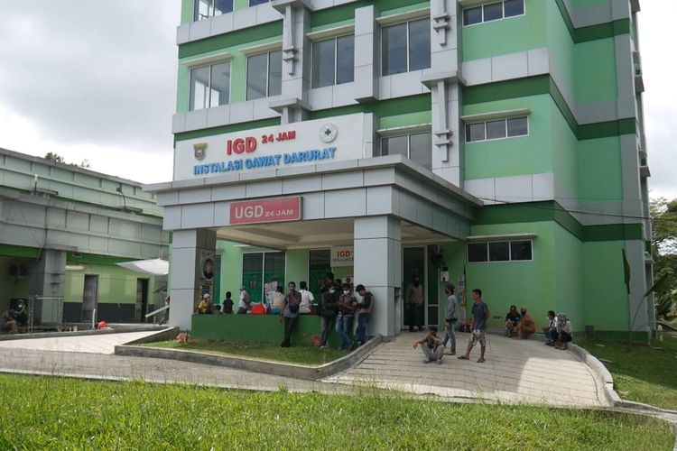 Suasana Ruang Instalasi Gawat Darurat (IDG) RSUD IA Moeis Jalan HM Rifadin, Samarinda, Kalimantan Timur, Minggu (19/3/2020).