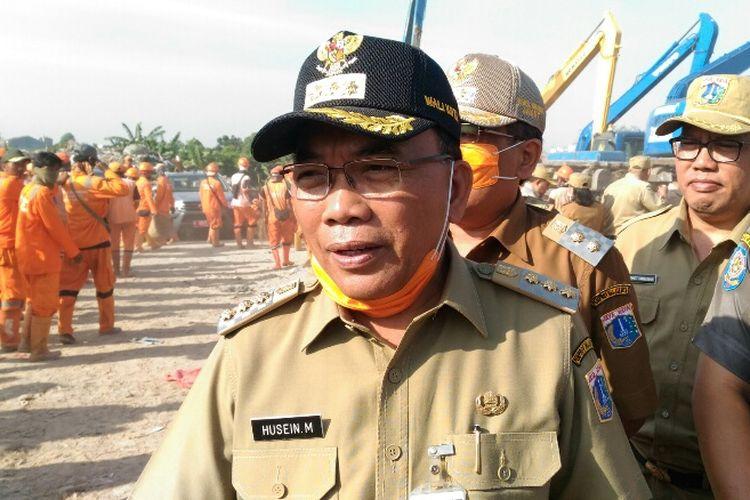 Wali Kota Jakarta Utara Husein Murad selepas apel di Taman BMW, Sunter, Kamis (3/8/2017).