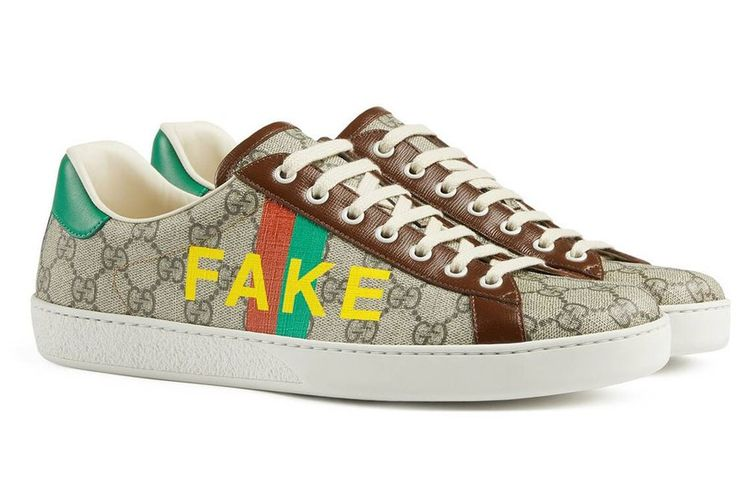 Koleksi Gucci Fake Not