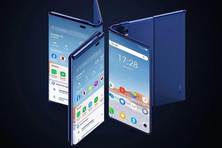 TCL pamer ponsel yang bisa dilipat dan digulung.