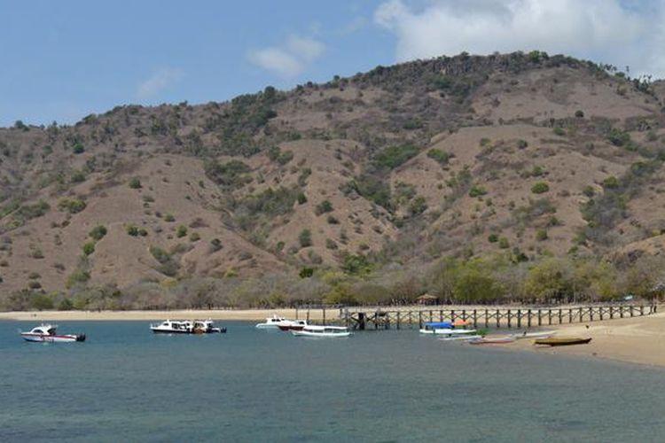 Beberapa kapal cepat yang membawa wisatawan bersandar di salah satu dermaga di Pulau Komodo, Kecamatan Komodo, Manggarai Barat, Nusa Tenggara Timur, Kamis (19/11/2015) pagi.