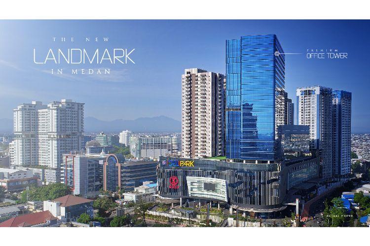 Premium Office tower Podomoro City Deli Medan tampak paling tinggi dan modern di tengah kota Medan (Dok: Agung Podomoro Land)