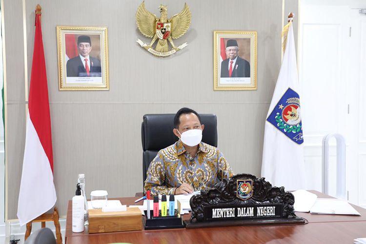 Mendagri Tito Karnavian dalam acara Pelantikan Ketua TP PKK Provinsi Sulawesi Tengah dan Ketua TP PKK Provinsi Jambi, Rabu (14/7/2021).