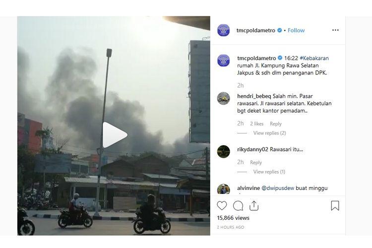 Tangkapan layar dari Instagram TMC Polda Metro