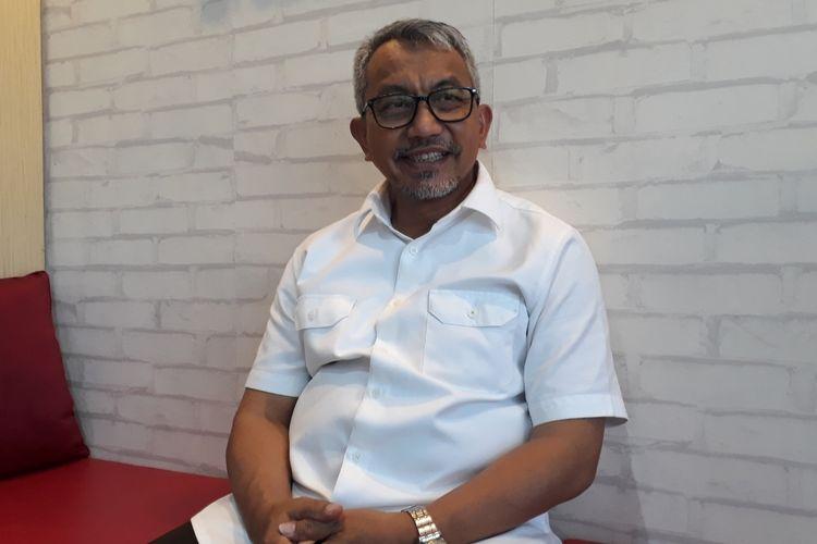Calon Wakil Gubernur DKI Jakarta, Ahmad Syaikhu di Kantor Asyikpreneur, Kota Bekasi, Kamis (18/4/2019).