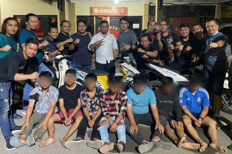 Tujuh komplotan begal asal Kerinci saat diamankan pihak kepolisian