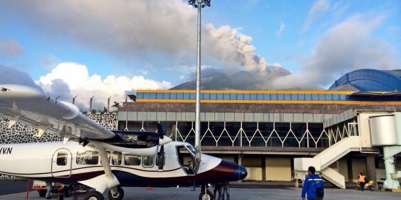 Kondisi Bandara Sultan Babullah Ternate, Maluku Utara Pasca-erupsi Gunung Gamalama, Dok. Kemenhub