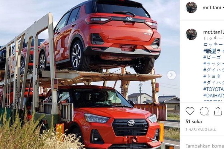 Penampakan Daihatsu Rocky mulai didistribusikan ke diler di Jepang