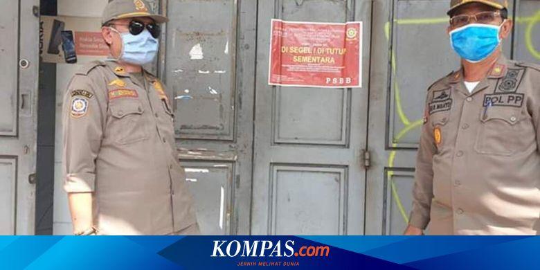 Rusak Tanda Peringatan karena Buka saat PSBB, Pemilik Toko