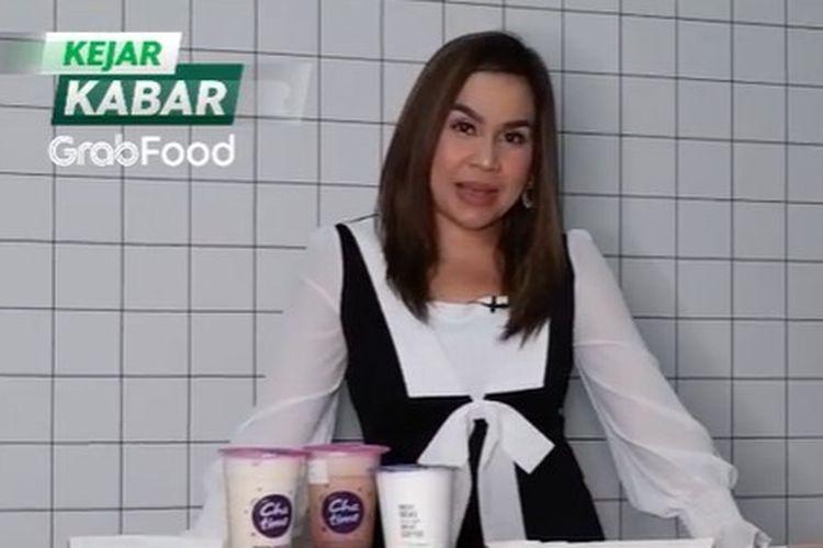 Presenter Melaney Ricardo saat menjadi bintang tamu di program Kejar Kabar GrabFood yang ditayangkan melalui kanal Youtube Grab Indonesia.