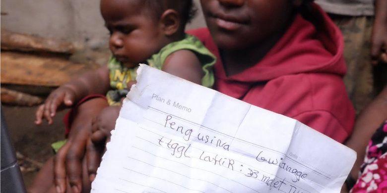 Bayi perempuan yang lahir Maret lalu ini dinamai Pengusina oleh ibunya.