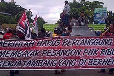 Hendak Demo, Buruh Tambang Diserang Ratusan Massa