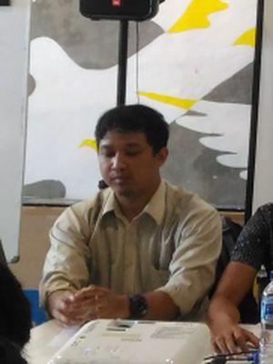 Ikhsan Yorie dalam koalisi masyarakat sipil di kantor Amnesty International, Jakarta, Senin (17/12/2018).